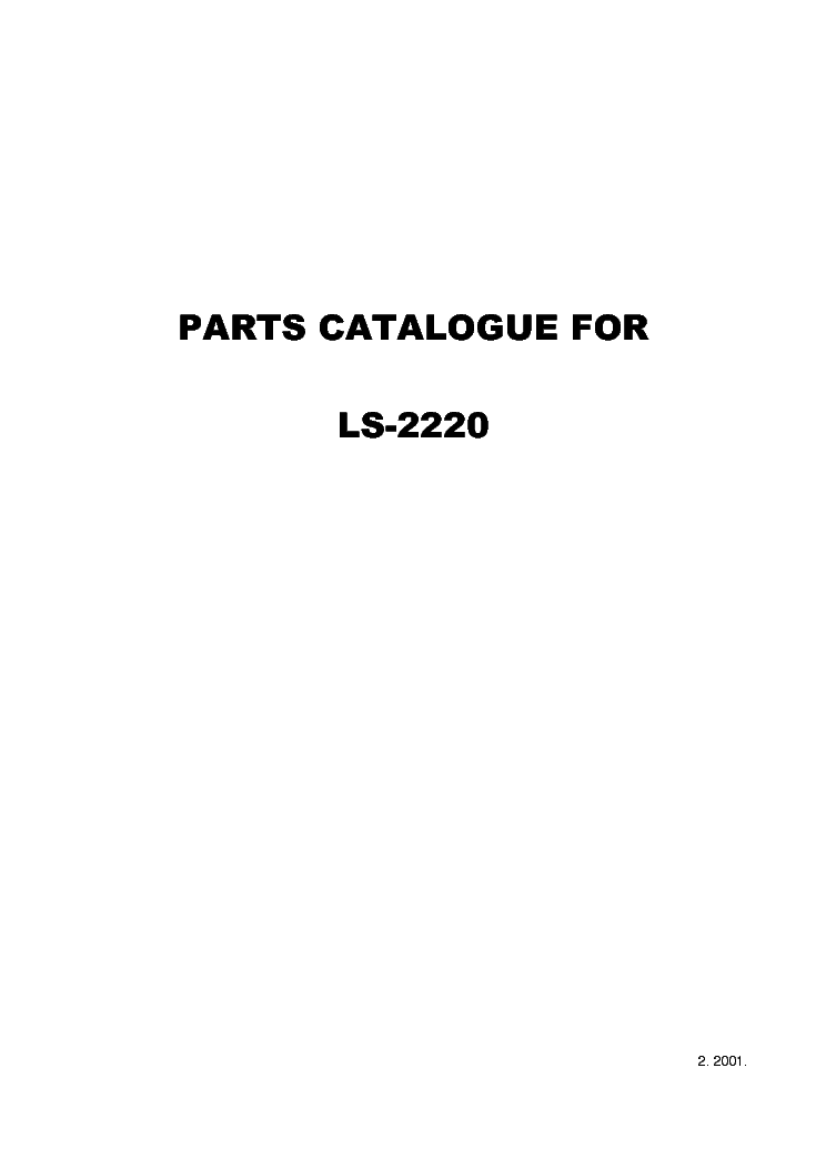 Brother Xl2600i 3500i 3600 3750 Bm3600 Bm2700 Comfort 25a 35a L30 L40 Sewing Machine Parts List