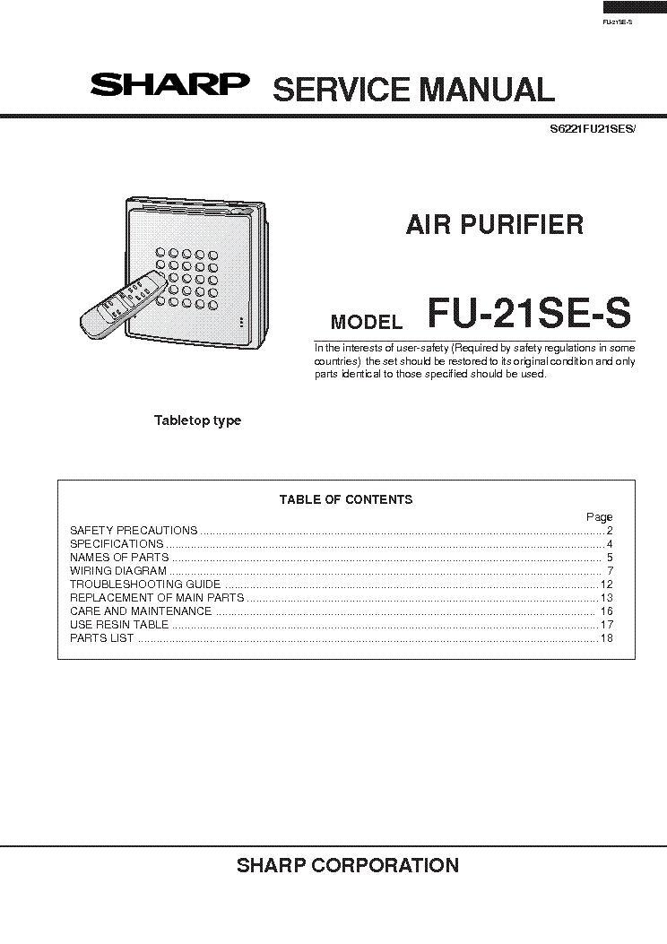 Air Purifier Wiring Diagram - Wiring Diagram