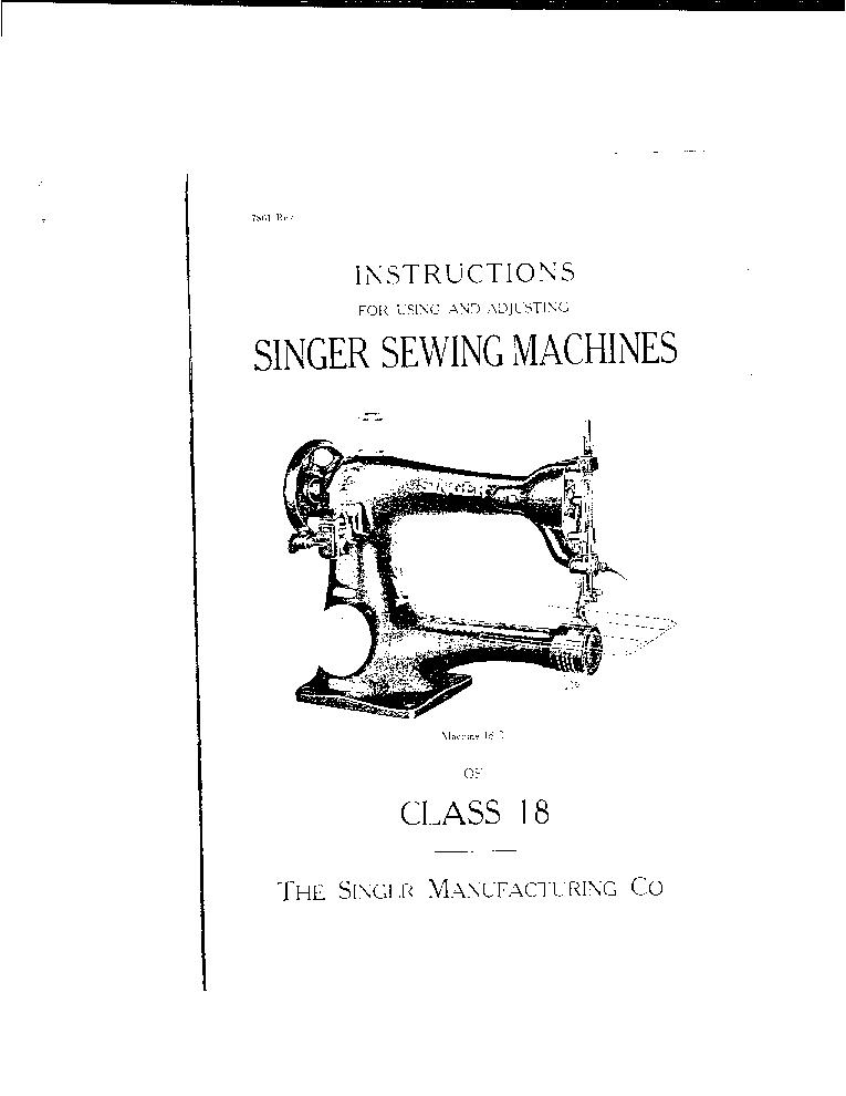 SINGER 18-1-2-3-5-6-7-15-16-17-18 2INCH-CYLINDER-BED SEWING