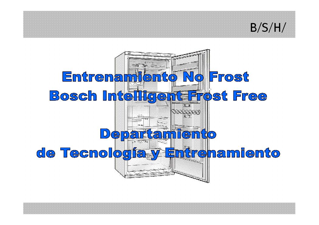 bosch intelligent frost free 44 manual