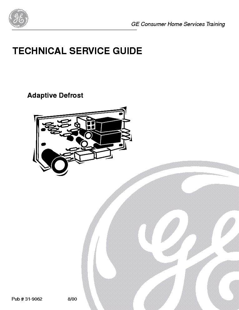 Ge Refrigerator Adaptive Defrost Service Manual Download