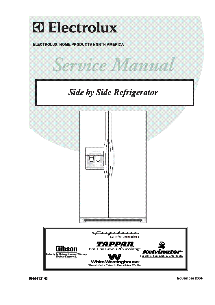electrolux side by side refrigerator with genesis controls 2004 sm rh elektrotanya com Electrolux Double Drawer Refrigerator Electrolux Icon Refrigerator