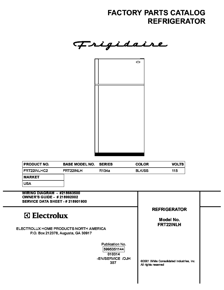 Frigidaire Fpb2777rfo Schematic Diagram - Electrical Wiring Diagram on