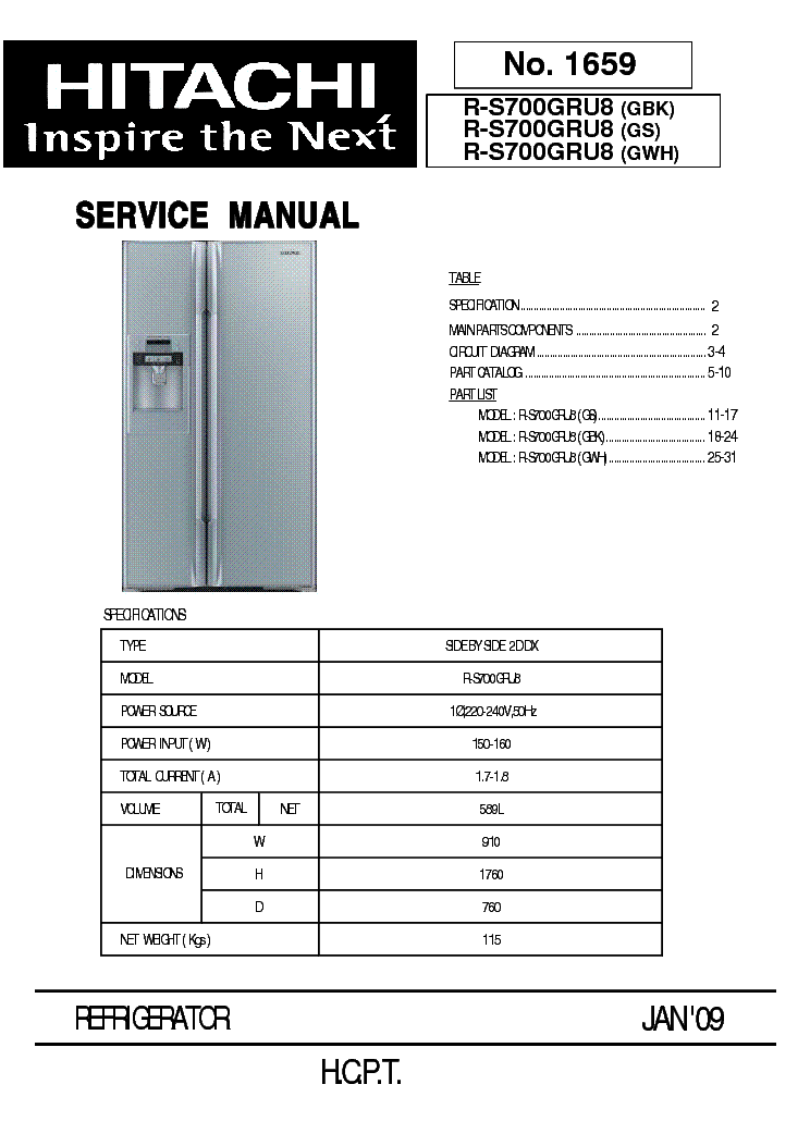 Hitachi ras 12u Manual