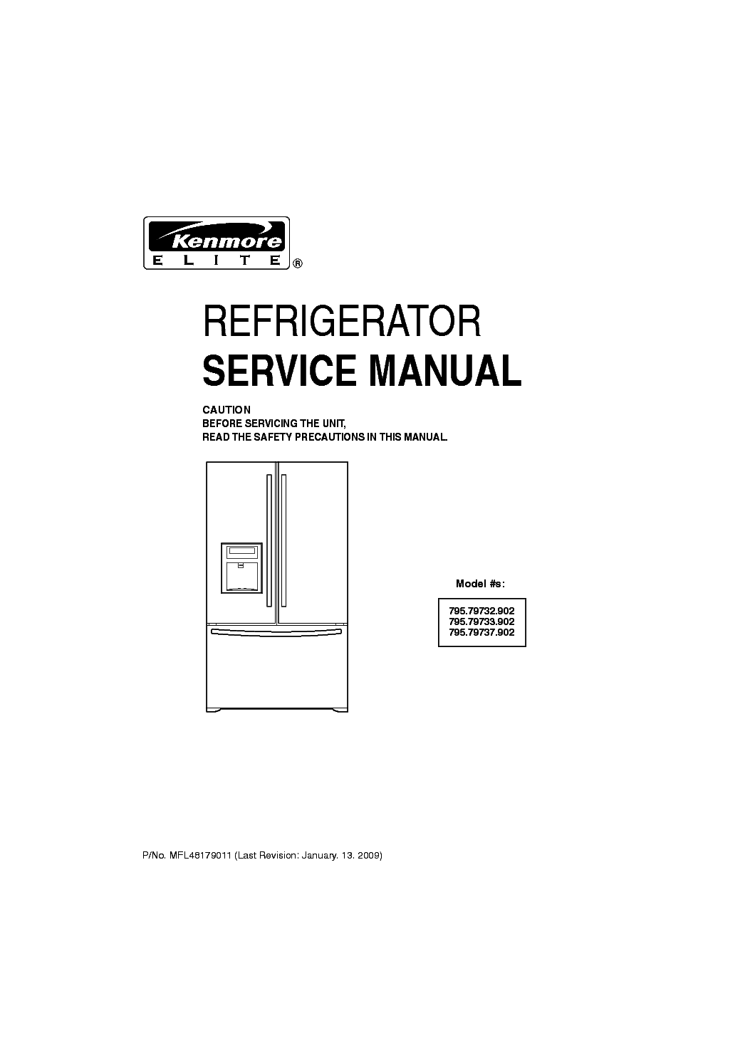 Kenmore 787808l refrigeration appliance repair manual: amazon. Ca.