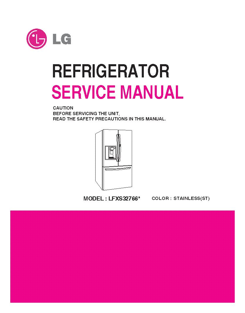 LG LFXS32766X service manual (1st page)