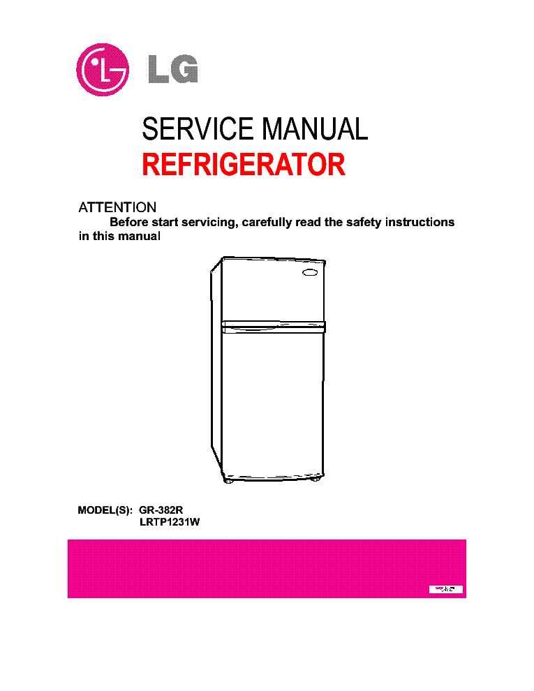 Lg Lrtp1231w Gr382r Service Manual Download  Schematics