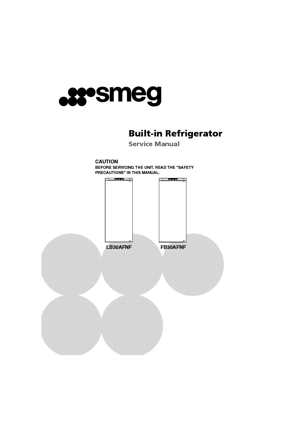 Lg Smeg Lb30afnf Fb30afnf Service Manual Download Schematics Refrigerator 1st Page