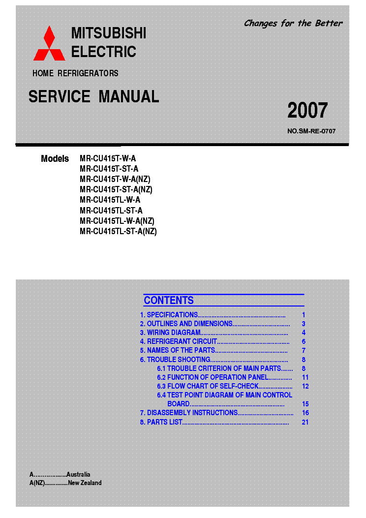 Mitsubishi mr cu415t service manual download, schematics, eeprom on wiring diagram refrigerator mitsubishi Hatz Diesel Wiring Diagrams 1993 Mitsubishi Mirage Fuse and Relay Boxes for 1 5 Liter