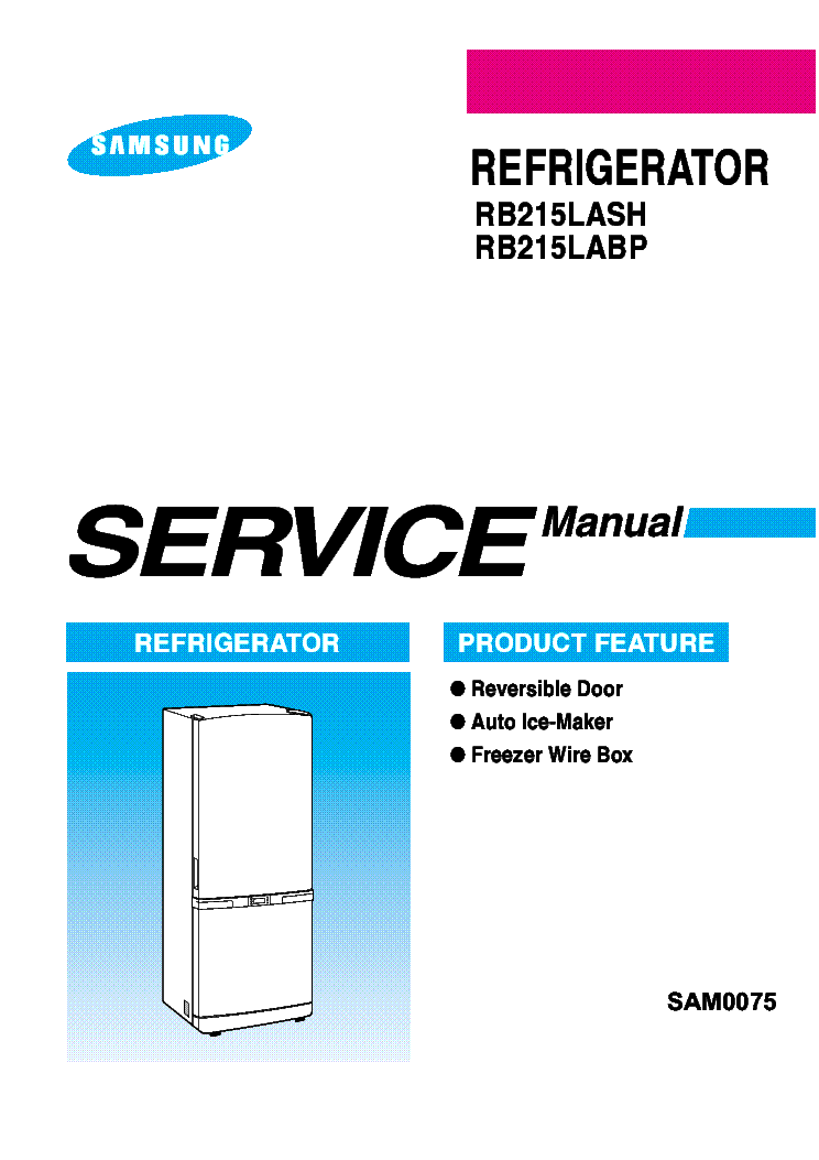 samsung rb215lash rb215labp refrigerator 2005 sm pdf service manual download  schematics  eeprom Repair Manuals Repair Manuals