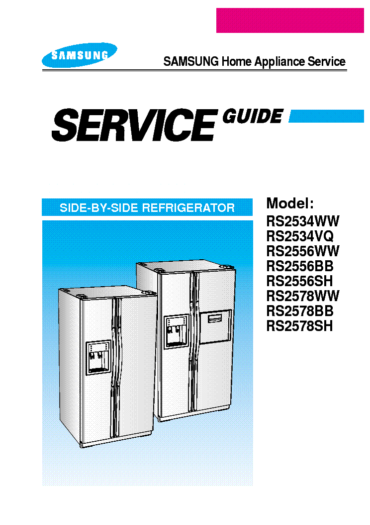 SAMSUNG RS-2534 2556 2578 service manual (1st page)