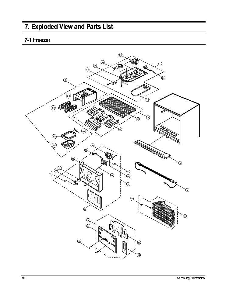 Samsung Schematic Parts List
