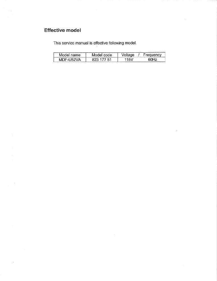 sanyo mdf u73v service manual