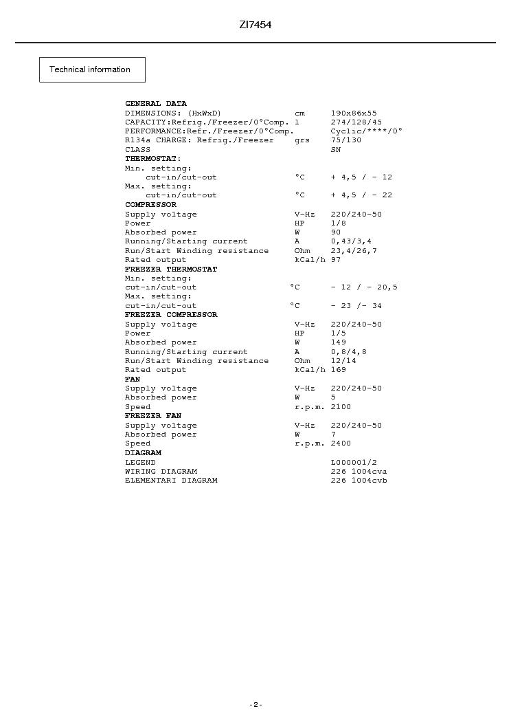 Zanussi Zi 7454 Service Manual Download  Schematics