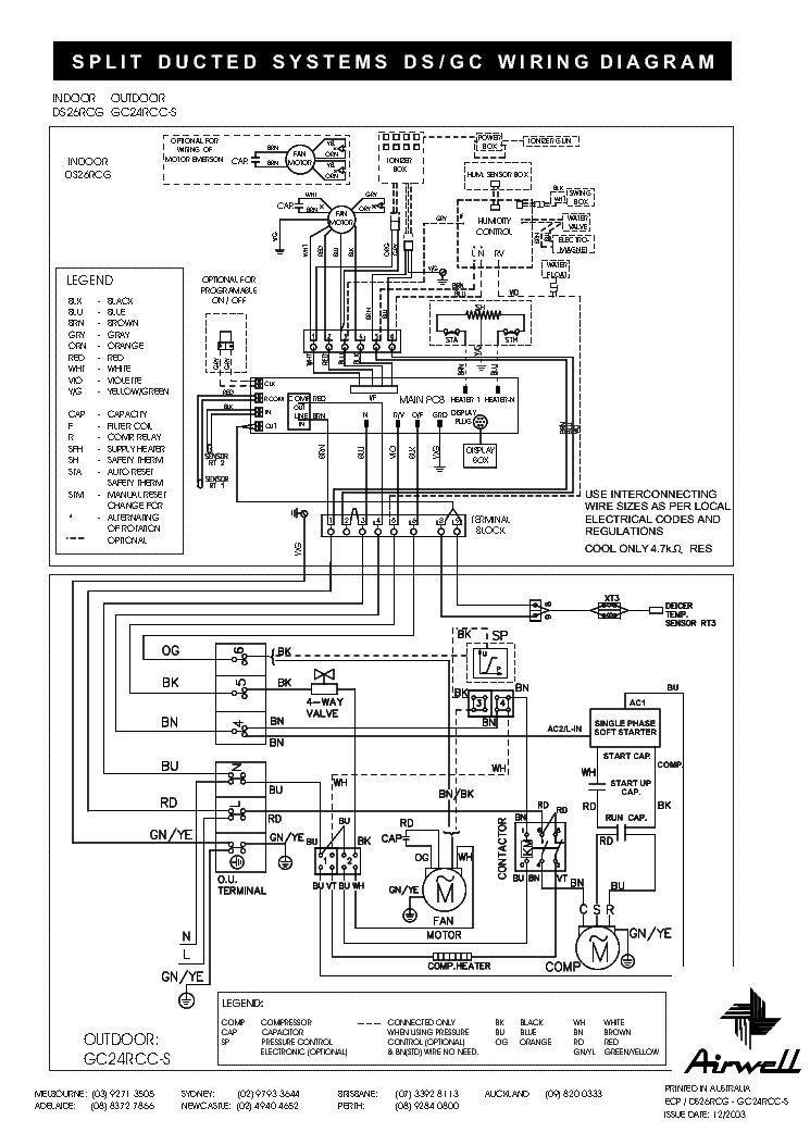 lg split air conditioner wiring diagram