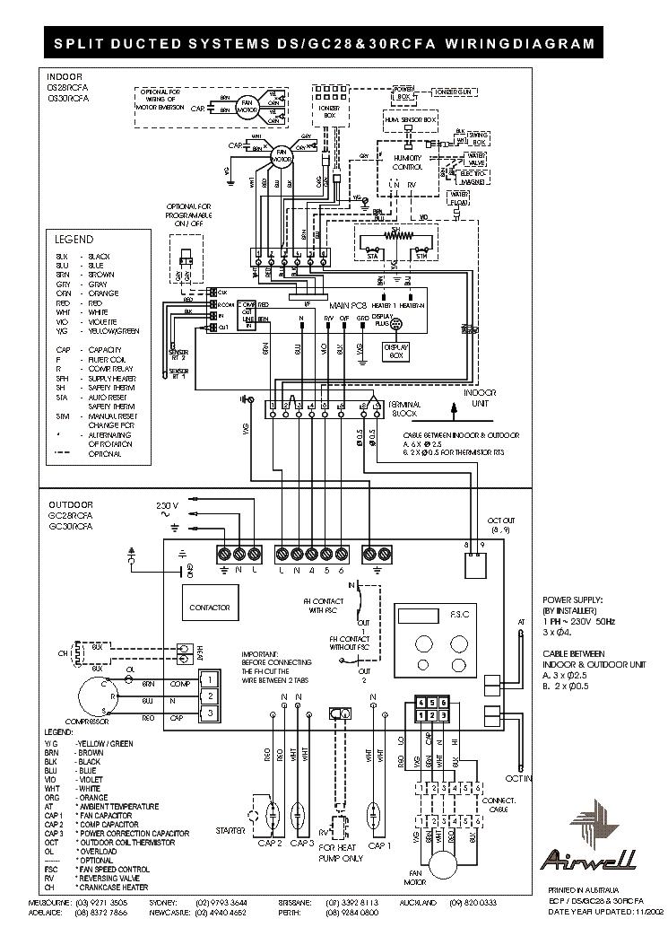 Airwell Air Conditioner Wiring Diagram - Wiring Diagrams Schematics