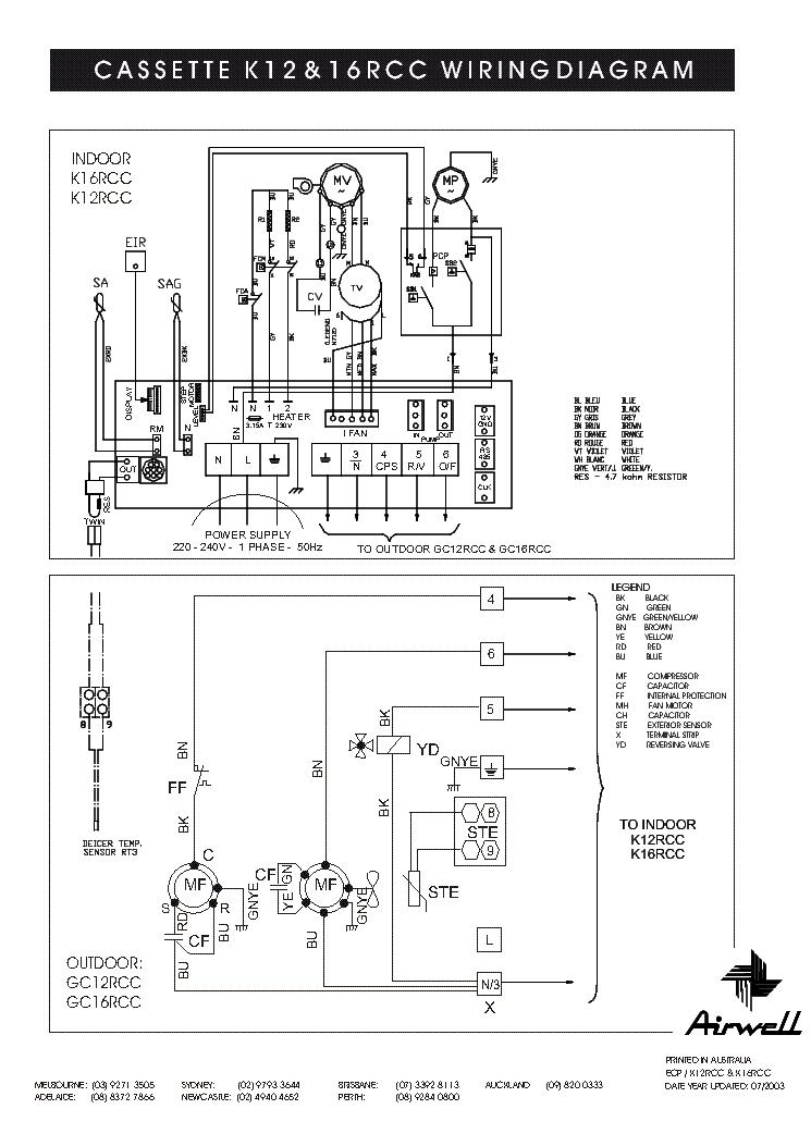 airwell gc k12rcc 16rcc wiring service manual download schematics eeprom repair info for. Black Bedroom Furniture Sets. Home Design Ideas