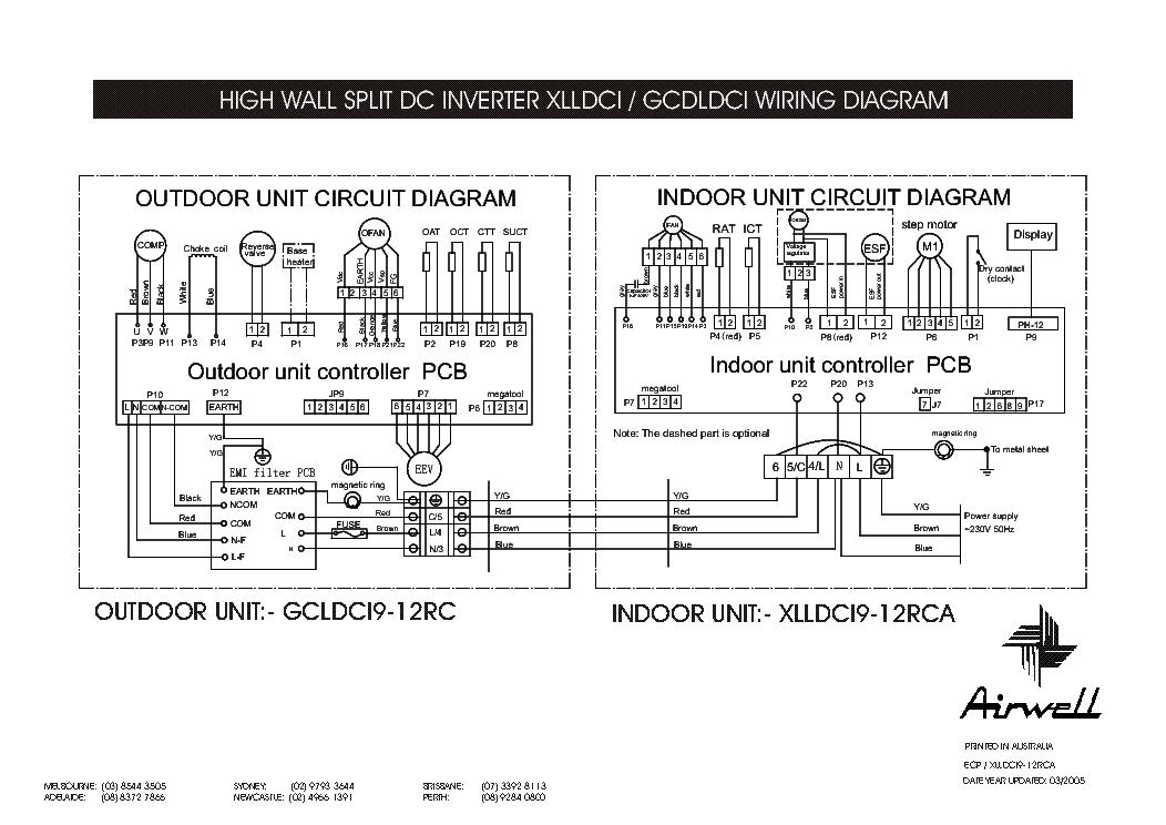 airwell wmz 7 12sta rca gcz 7 12st rc wiring diagram service airwell