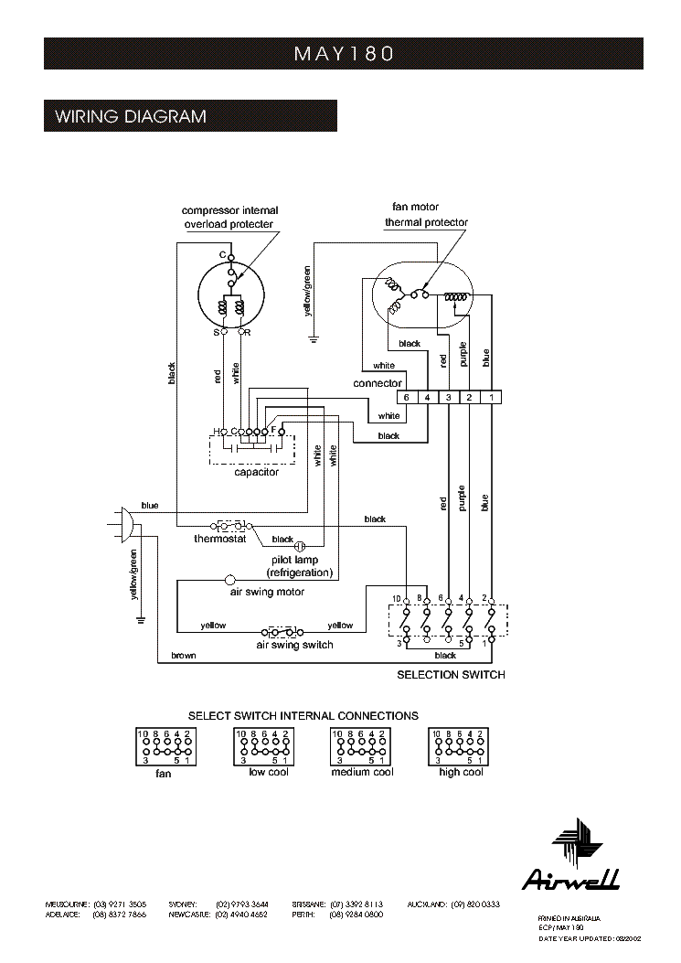 airwell air conditioner wiring diagram airwell wiring diagrams airwell ds 55rcf gc 55rcfx air wirning service manual