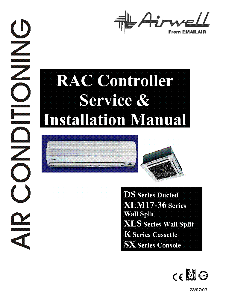 Airwell service Manuals