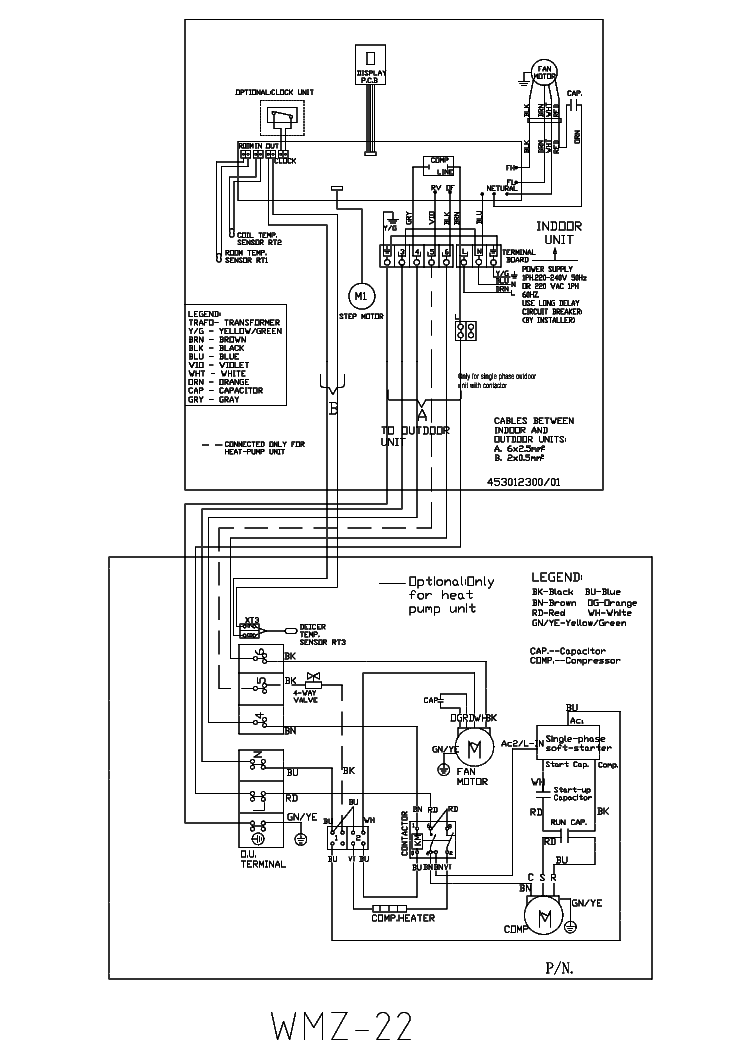 Airwell Air Conditioner Wiring Diagram : Airwell wmz air wirning service manual download