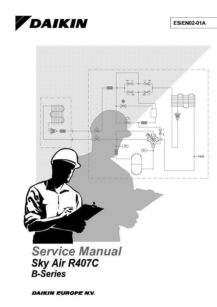 DAIKIN SKY-AIR-RC407C B-SERIES SM Service Manual download