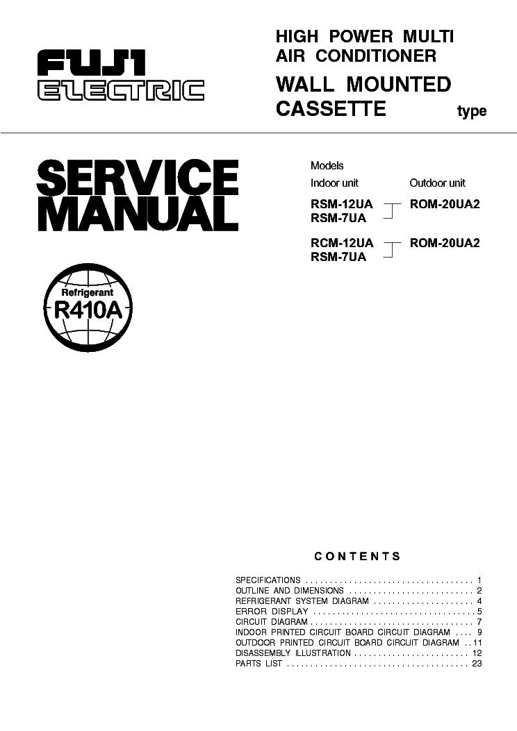 fuji electric fujitsu rsm12ua 7ua 20ua2 service manual download rh elektrotanya com
