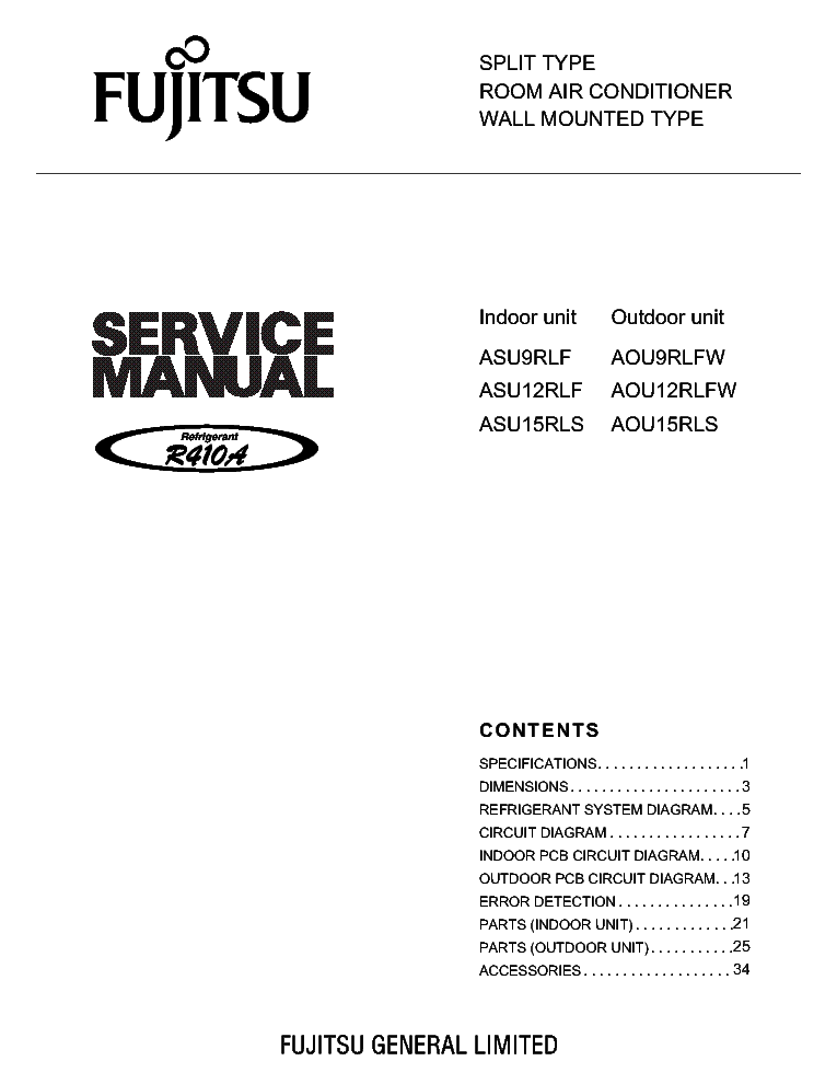 fujitsu asu9rlf asu12rlfw asu15rls1 service manual download rh elektrotanya com Repair Manuals service manual fujitsu inverter