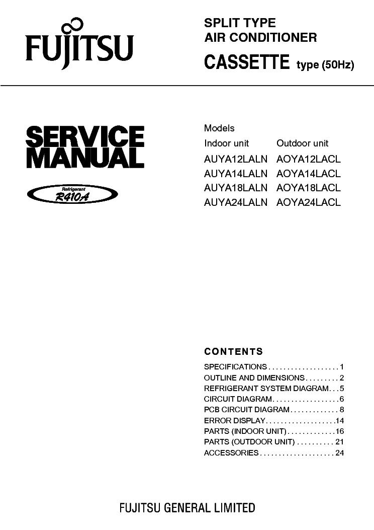 Fujitsu Asya07lcc Asya09lcc Aoyr07lcc Aoyr09lcc Service