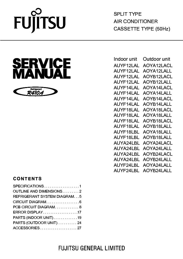 fujitsu auyf24lal aoyb24lacl service manual download schematics rh elektrotanya com