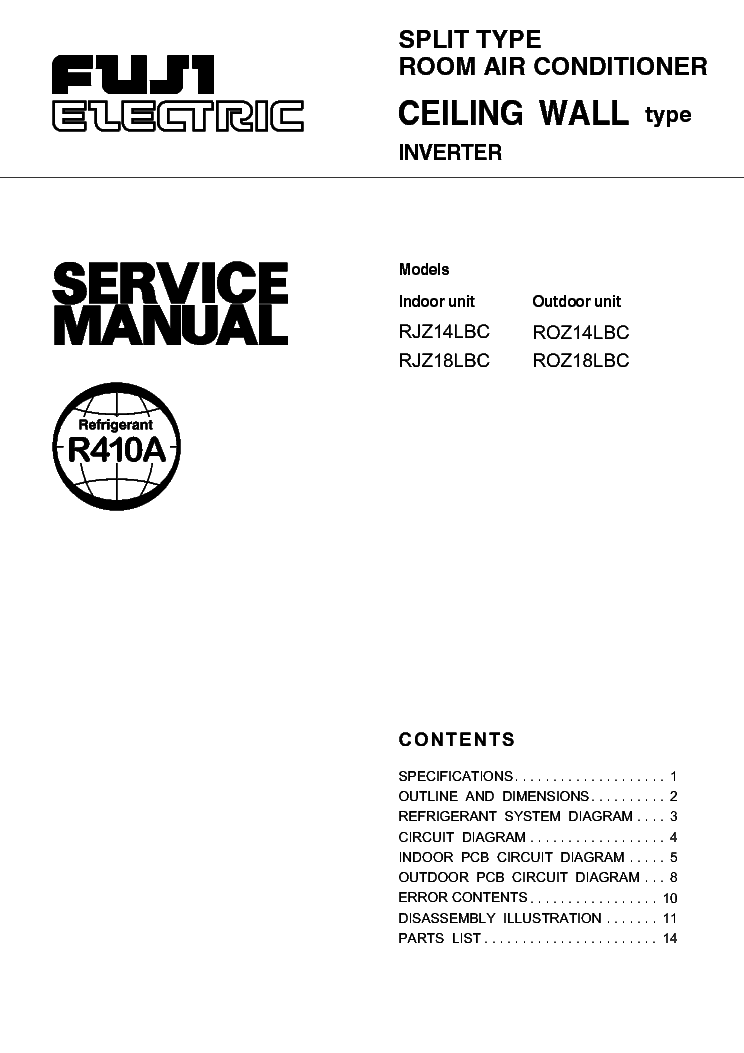 fujitsu rjz14 rjz18lbc service manual download schematics eeprom rh elektrotanya com service manual fujitsu air conditioner service manual vrf fujitsu