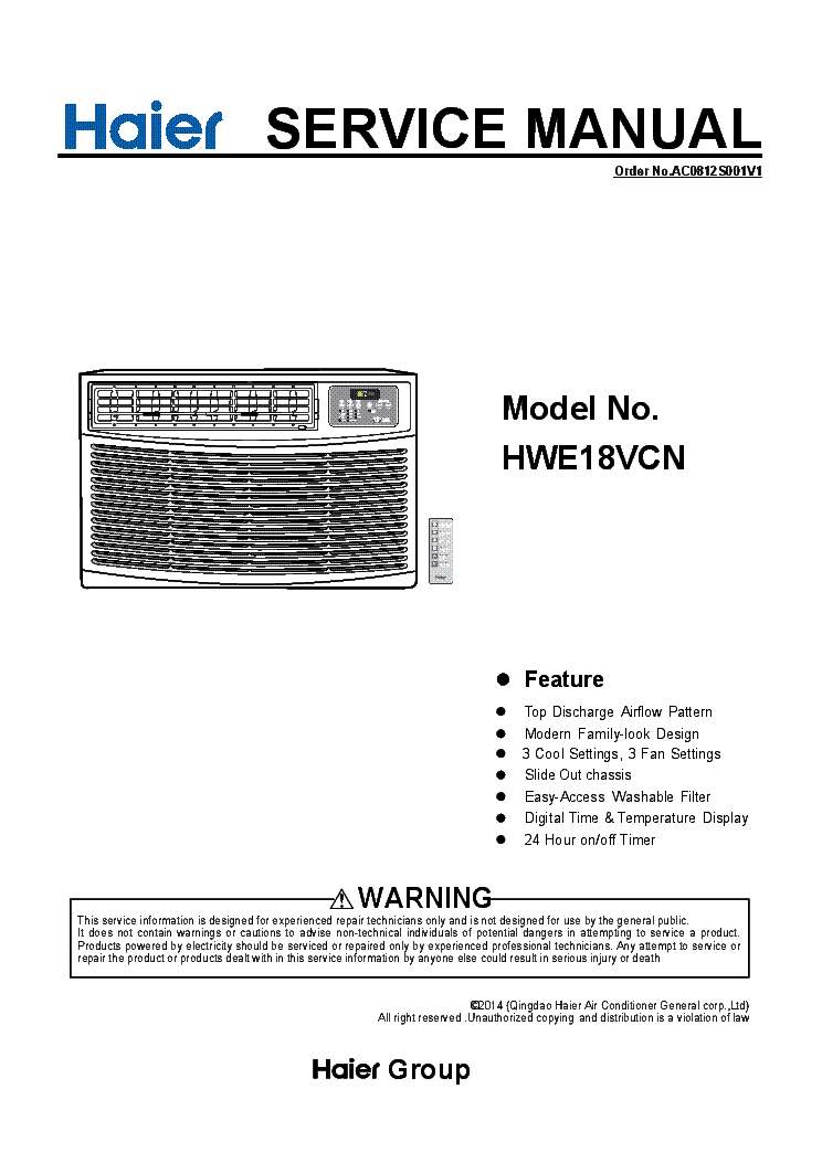 Haier Hlp23e Service Manual Download  Schematics  Eeprom
