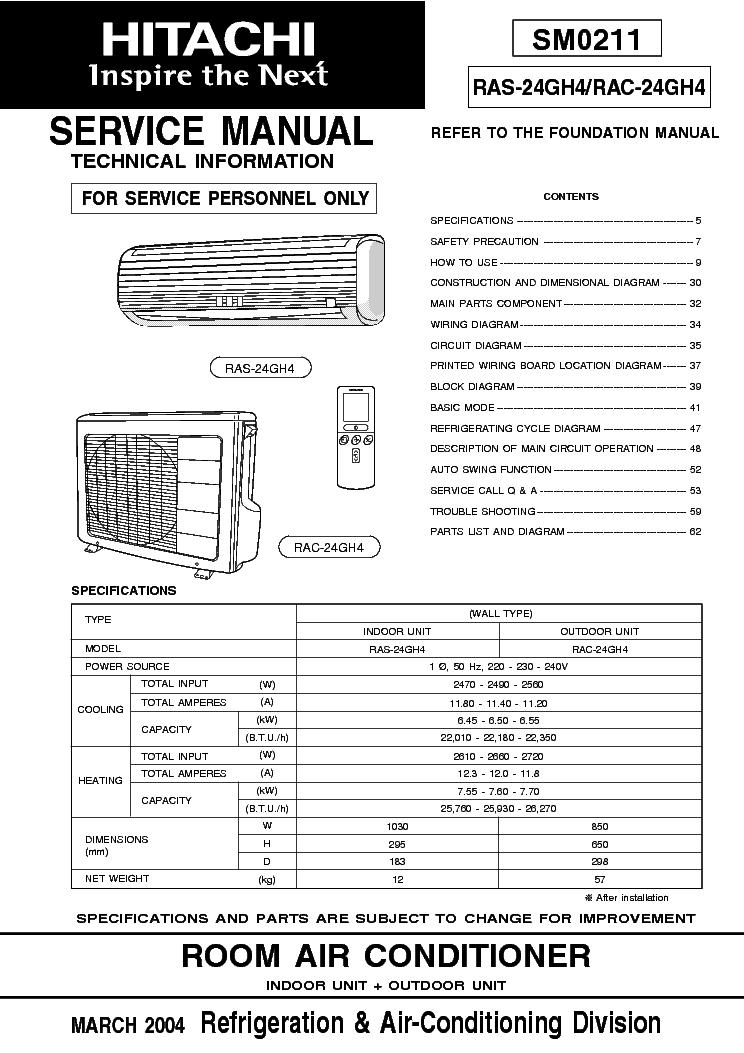 hitachi air conditioner manual download