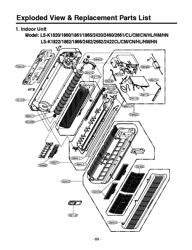 lg ls k1862hl ex view parts list service manual download