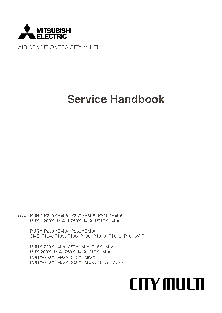 mitsubishi city multi service manual download schematics eeprom rh elektrotanya com City Multi Mitsubishi Air Conditioners Radio Wiring Diagram