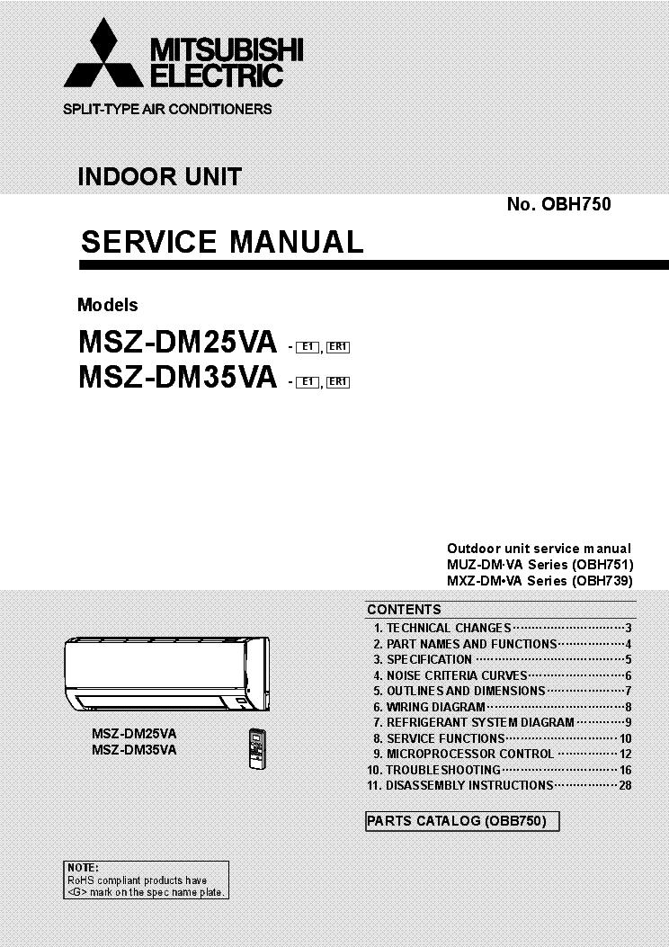 Surprising Mitsubishi Msz Dm25Va Msz Dm35Va Service Manual Download Schematics Wiring 101 Akebretraxxcnl