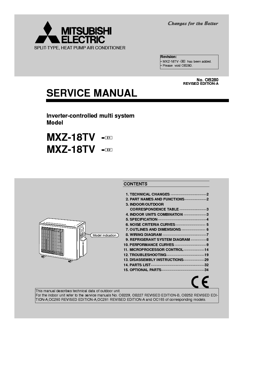 Mitsubishi mxz 18tv sm service manual download schematics eeprom mitsubishi mxz 18tv sm service manual 1st page freerunsca Image collections