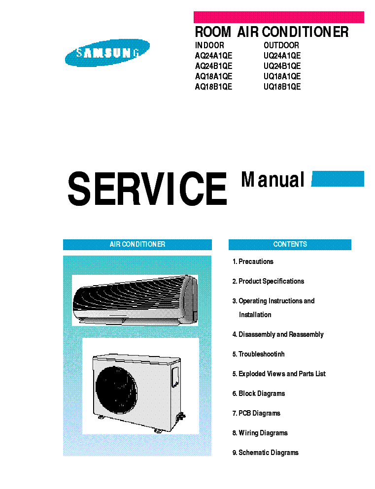 samsung air conditioner service manual pdf