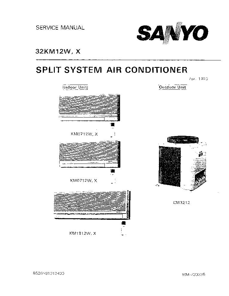 sanyo air conditioner owners manual user guide manual that easy to rh 6geek co HVAC OEM HVAC Manual HVAC Repair Manuals