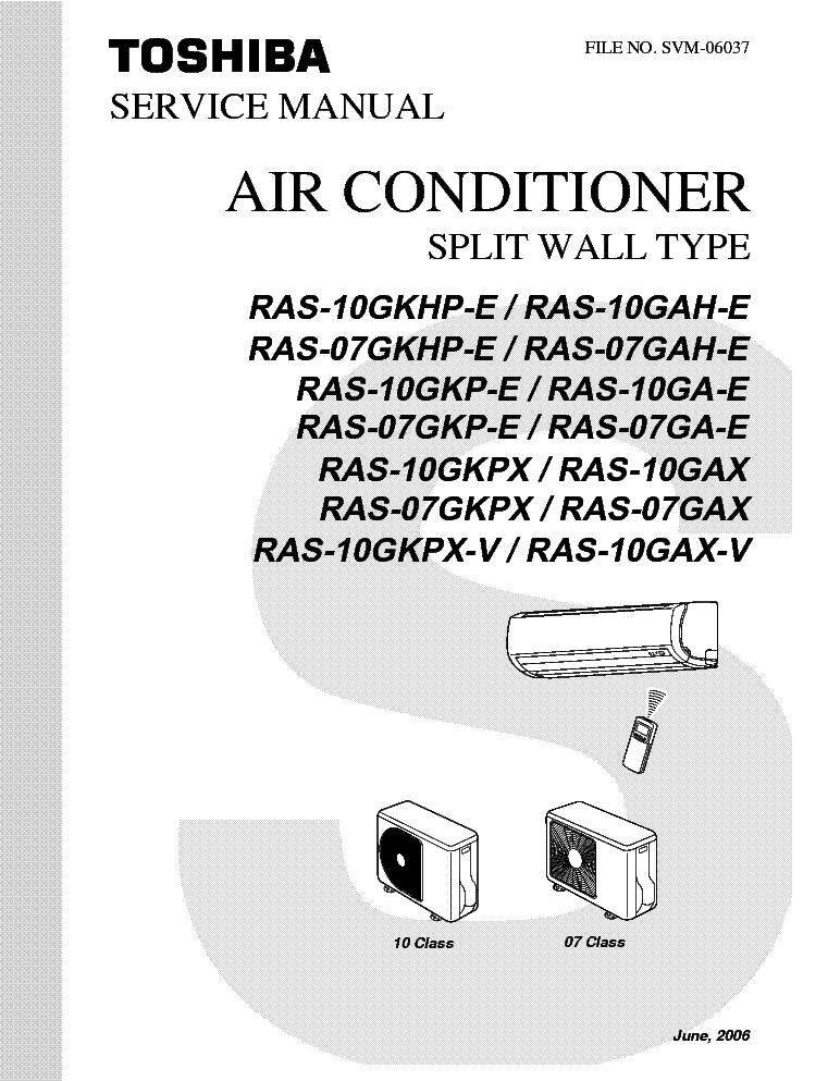 toshiba ras 07 10 sm service manual download schematics eeprom rh elektrotanya com toshiba air conditioner ras-13skv-a manual toshiba air conditioner ras-137skv-e3 manual