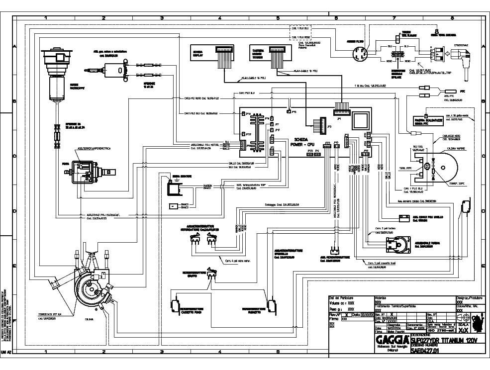 gaggia titanium service manual download schematics eeprom repair rh elektrotanya com Gaggia Classic Manual PDF Gaggia Classic Parts