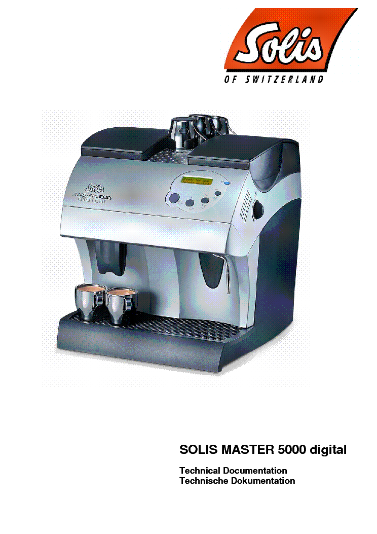 Ремонт кофемашины solis master 5000