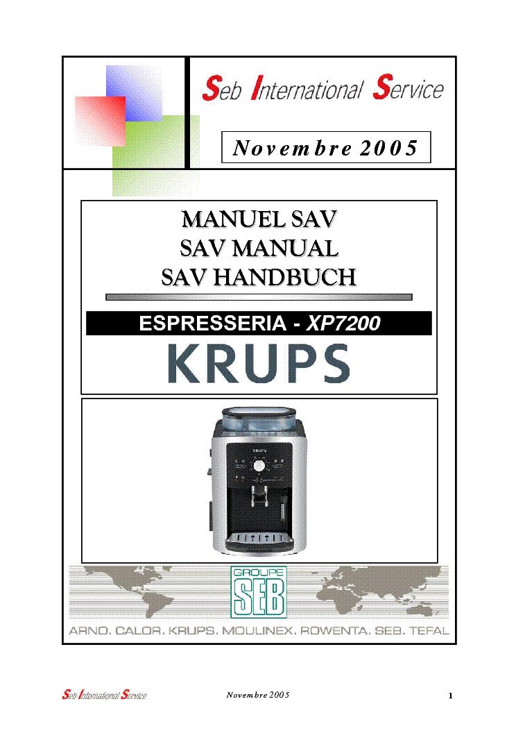 krups xp7200 seb sm service manual download schematics eeprom rh elektrotanya com krups beertender owners manual krups beertender owners manual