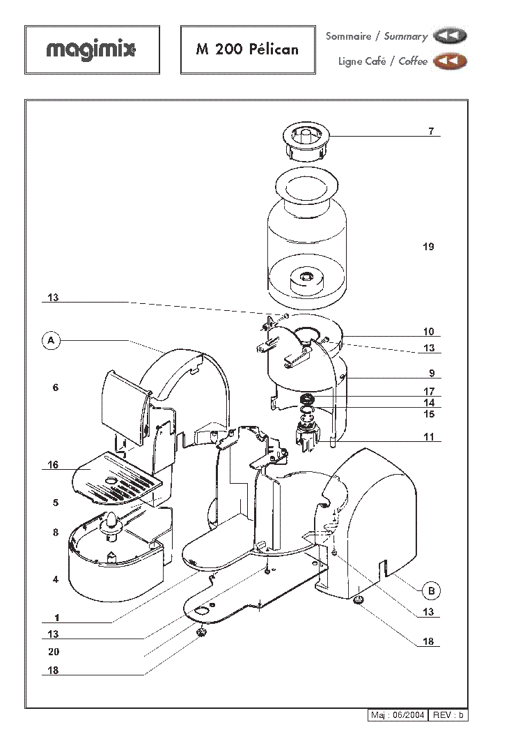 Magimix L Expresso Exploded Views Service Manual Download