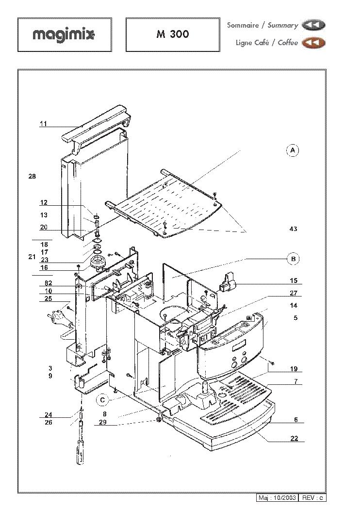 MAGIMIX M300 EXPLODED VIEWS Service Manual download, schematics ...