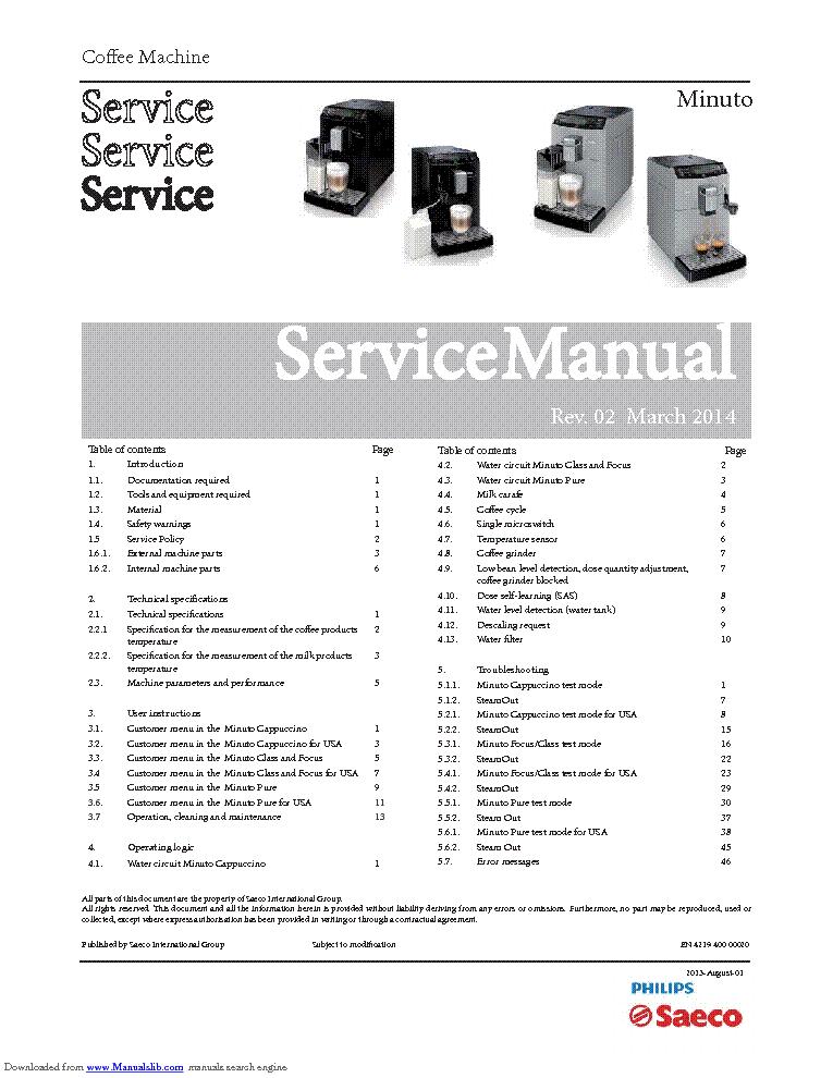 saeco minuto sm service manual download schematics eeprom repair rh elektrotanya com Service Manuals Wordie Manual