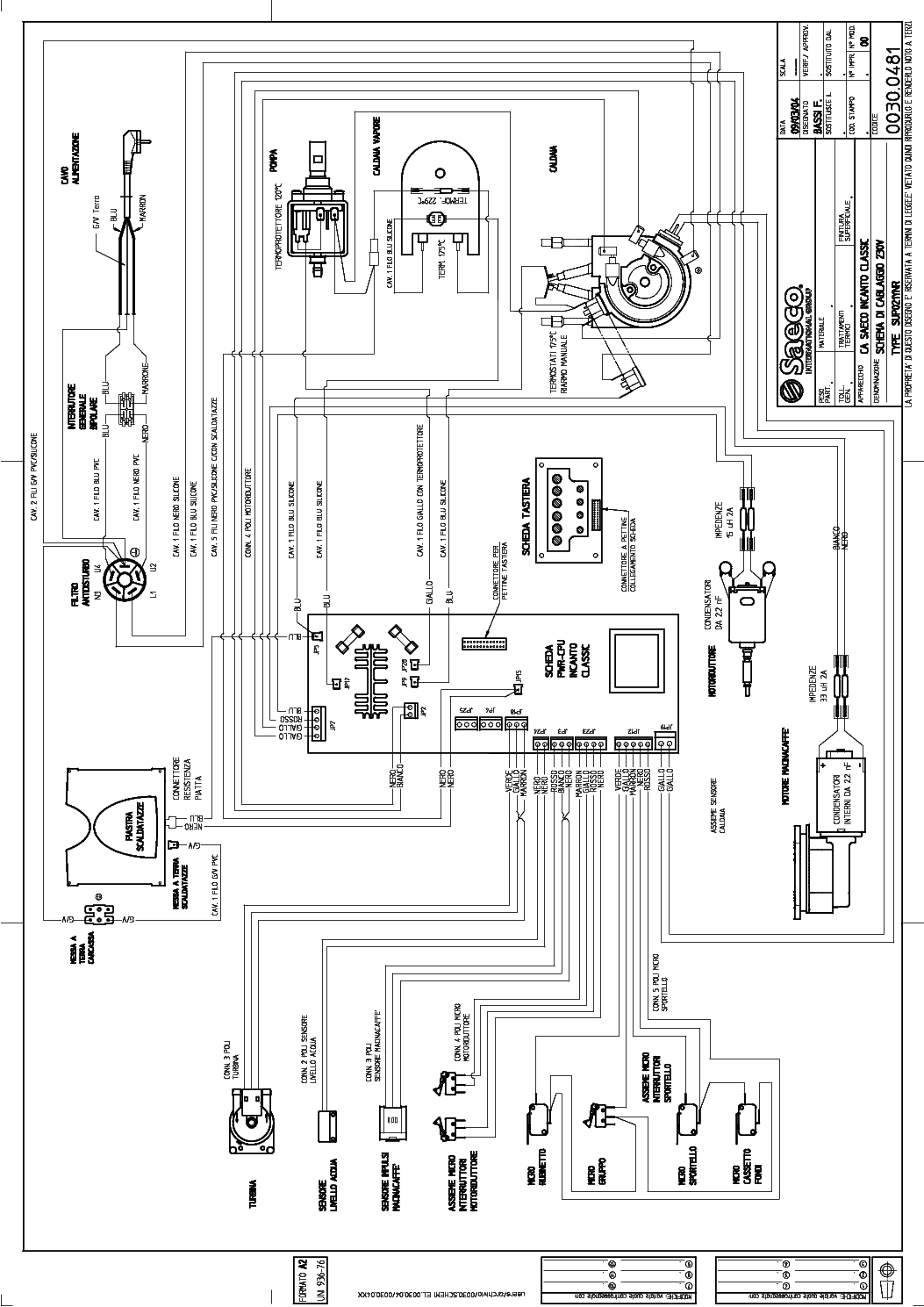 Saeco Sup 021ynr Sch Service Manual Download Schematics