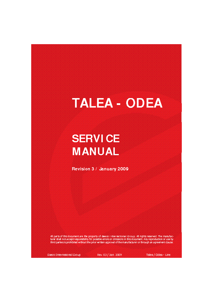 saeco sin 017 service manual