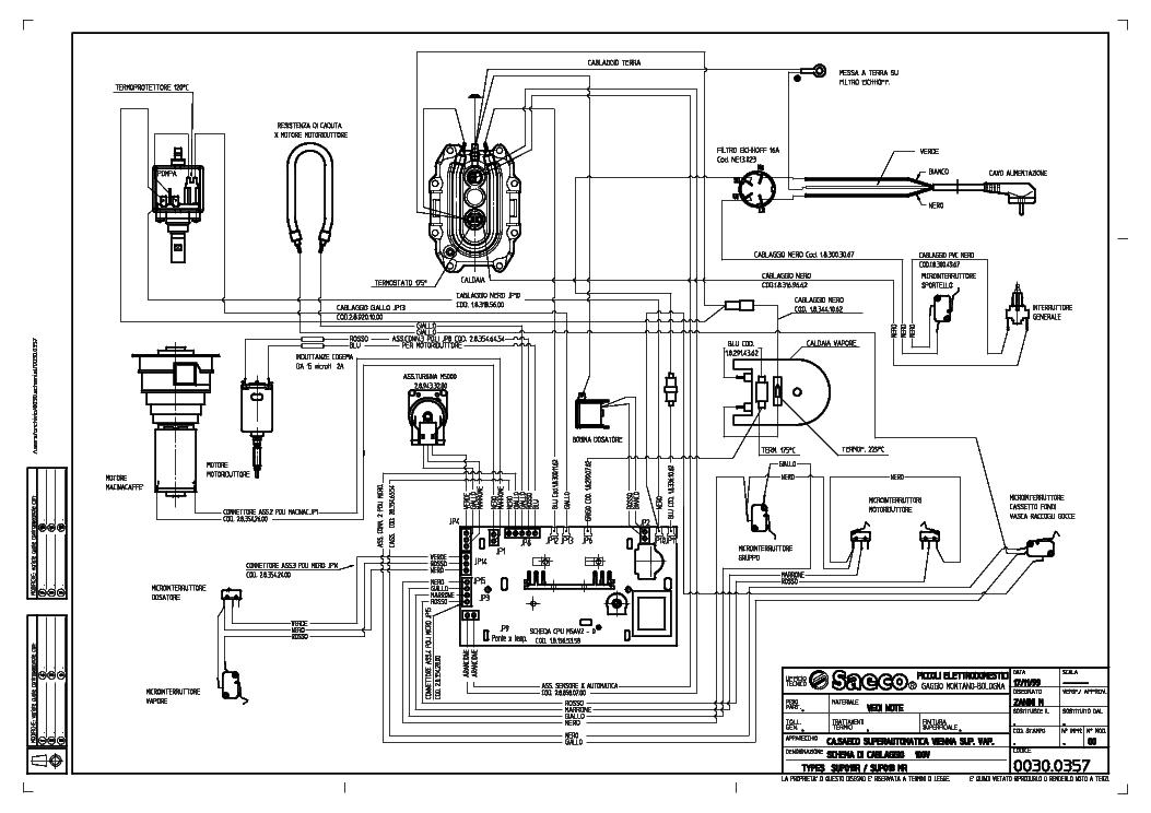 Saeco Royal Cappuccino Wiring Diagram