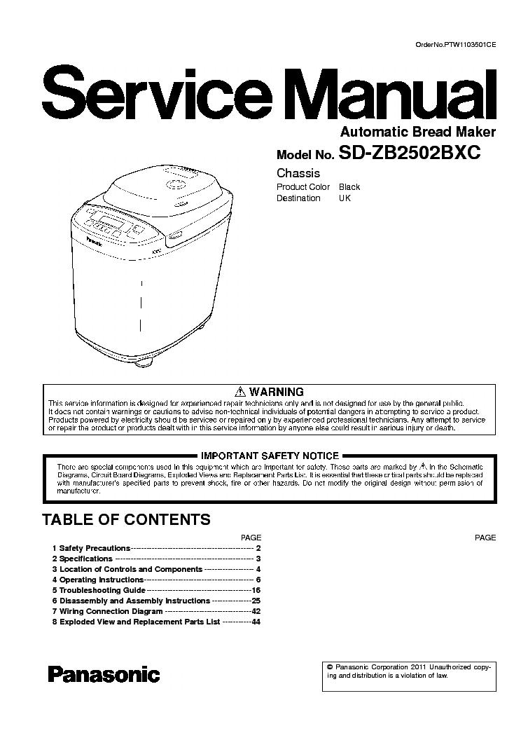 panasonic sd 2501 manual download